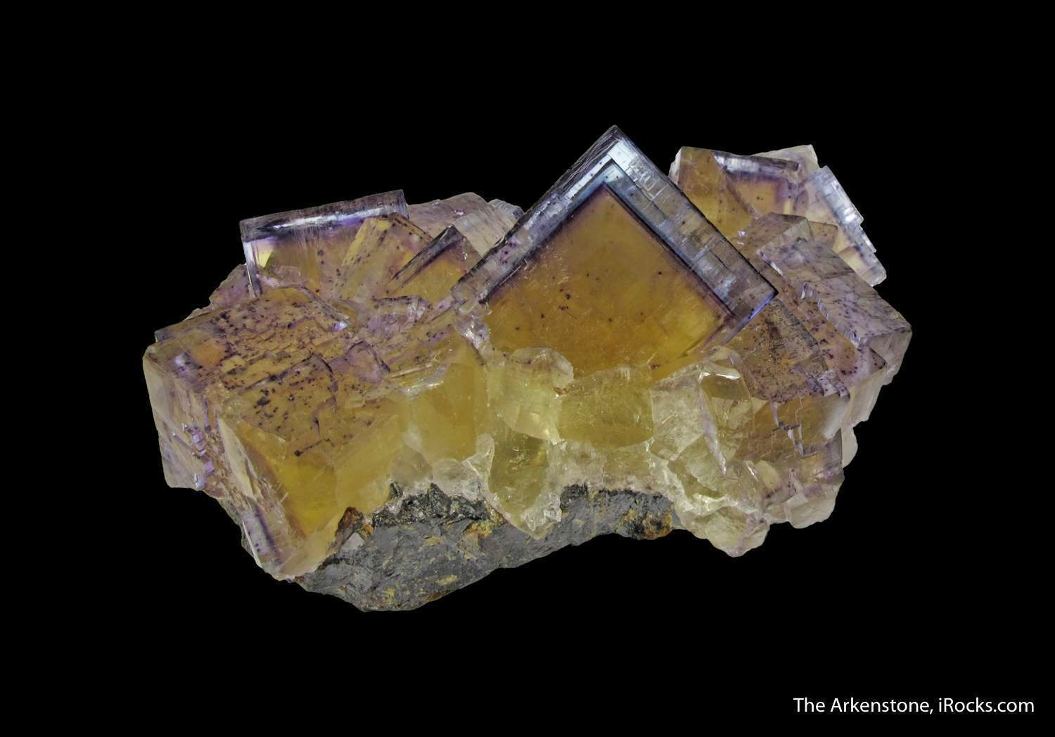 Choice color zoning sharp form good luster highlight Fluorite cluster