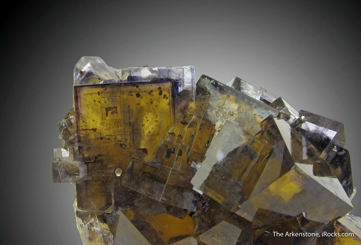 This Fluorite cluster Annabel Lee Mine splendid color zoning great
