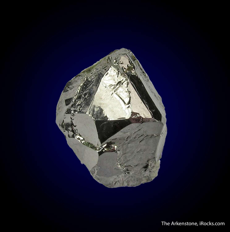 A rare platinum containing species splendent Sperrylite crystal