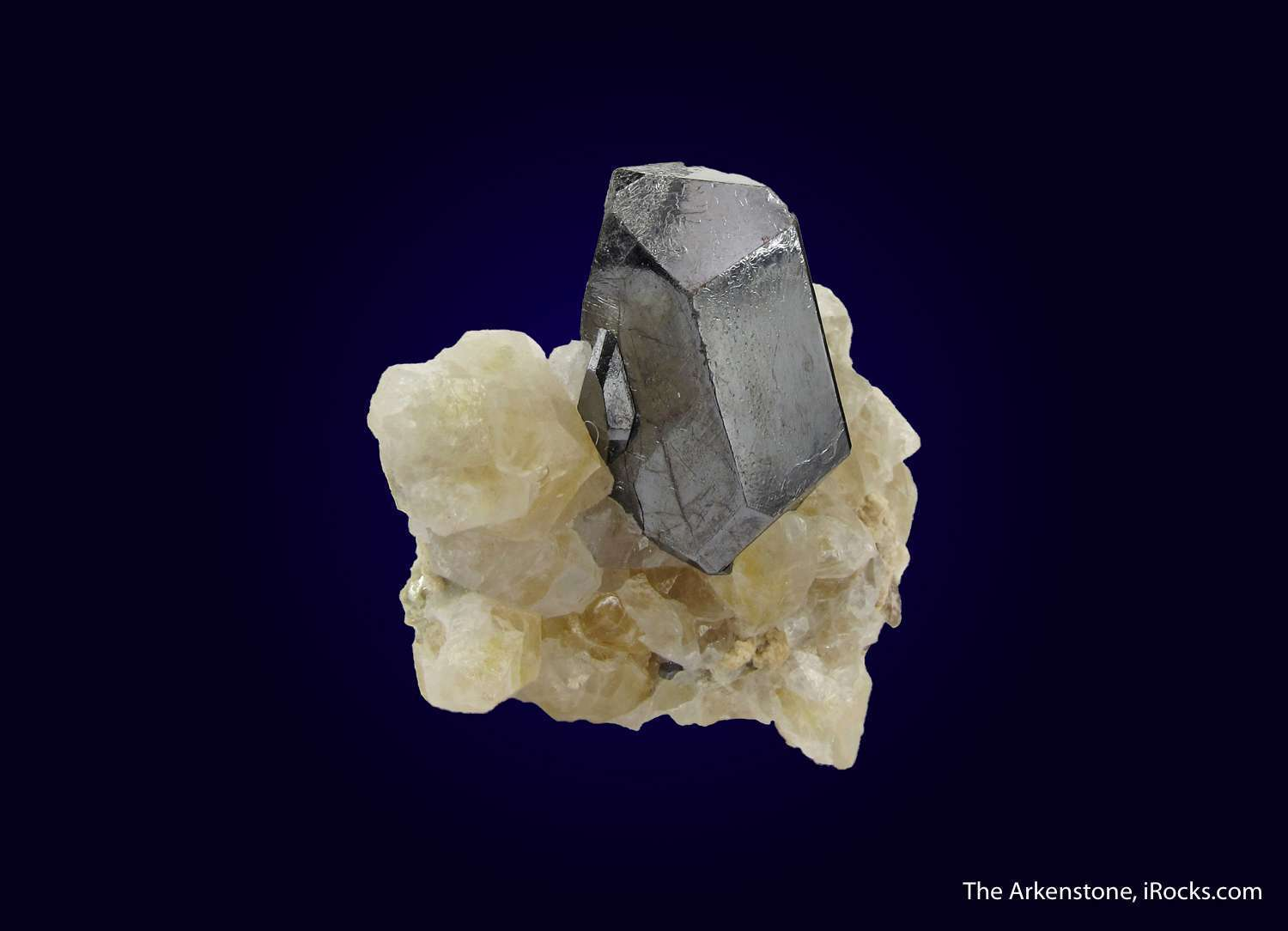 This lustrous super sharp Rutile crystal dramatically perched matrix