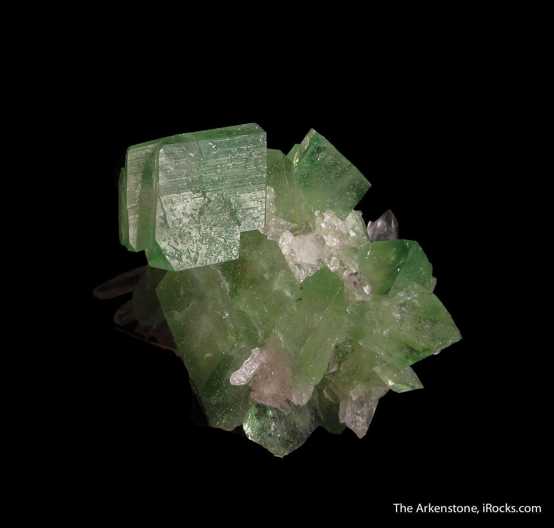 Superb sharply formed cluster translucent gemmy mint green Augelite