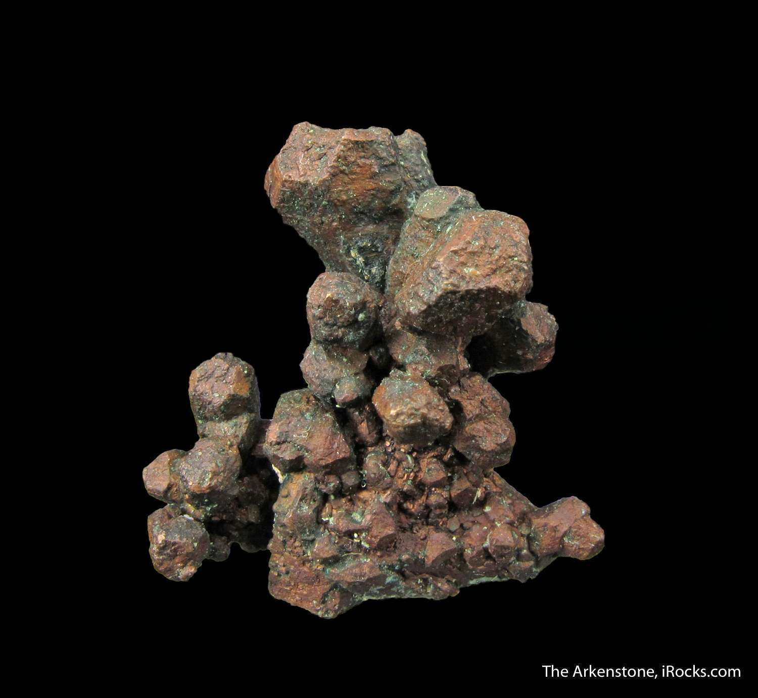 A highly sculptural cluster Copper crystals renowned Franklin Mine