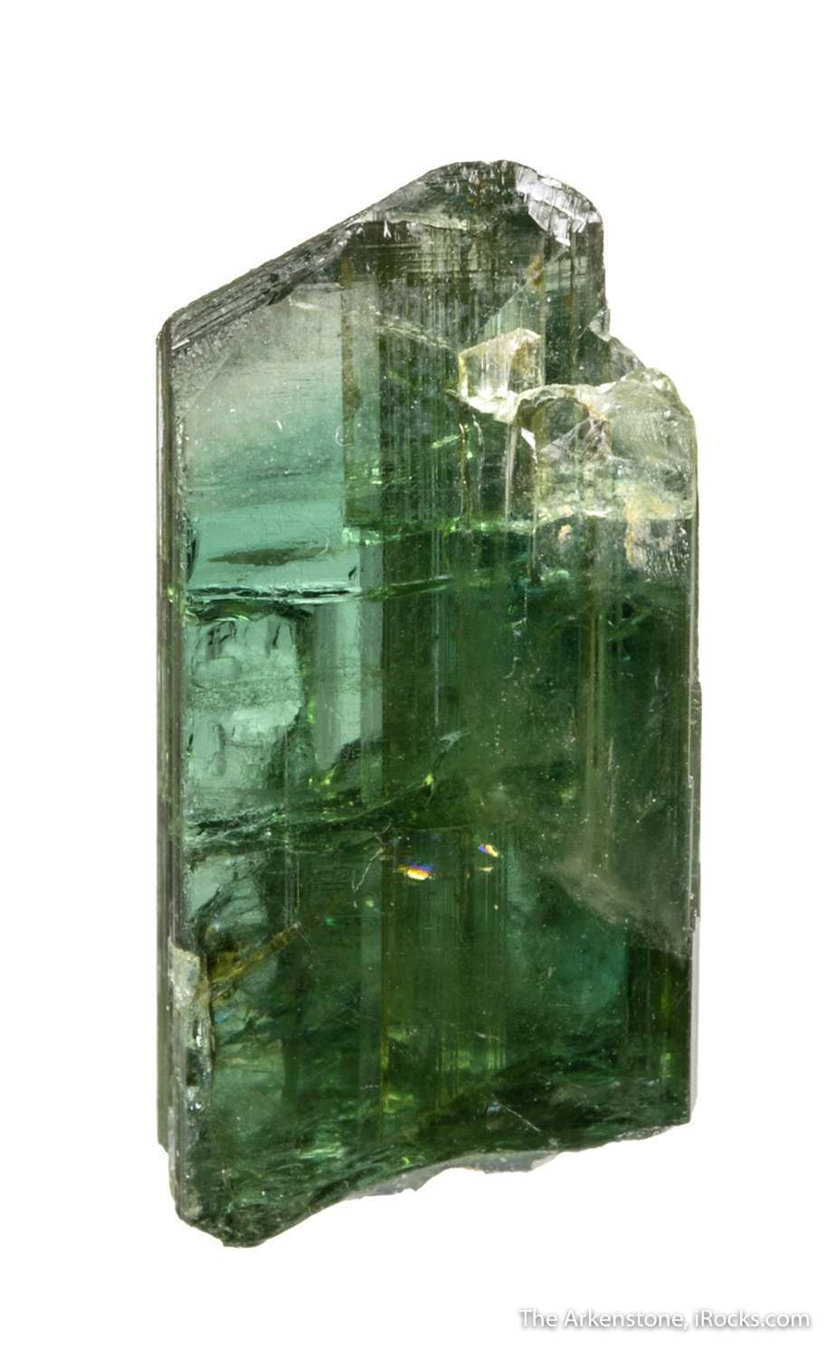 This glassy gemmy zoisite crystal exhibits beautiful light forest