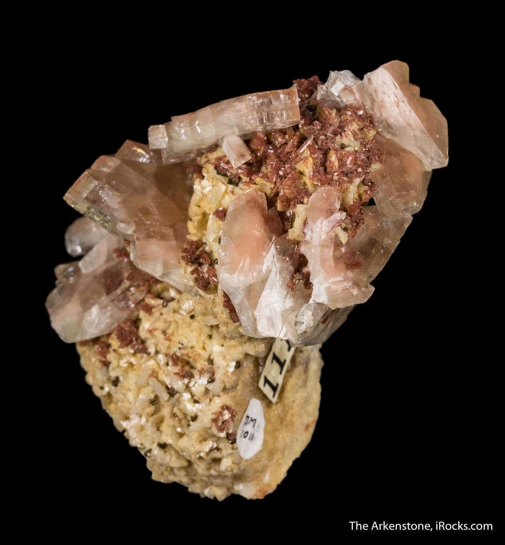 Aesthetically emplaced matrix drusy tan colored dolomite discrete