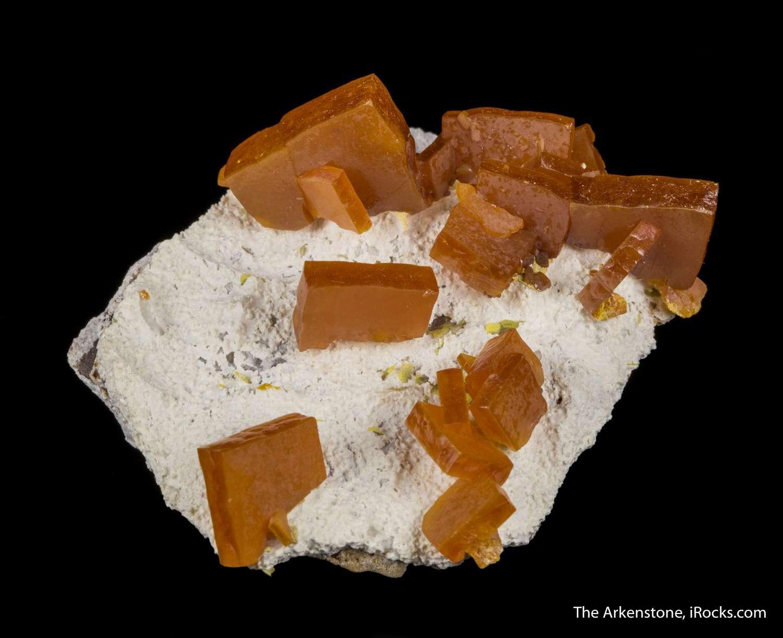 Emplaced aesthetically massive white calcite discrete crystals