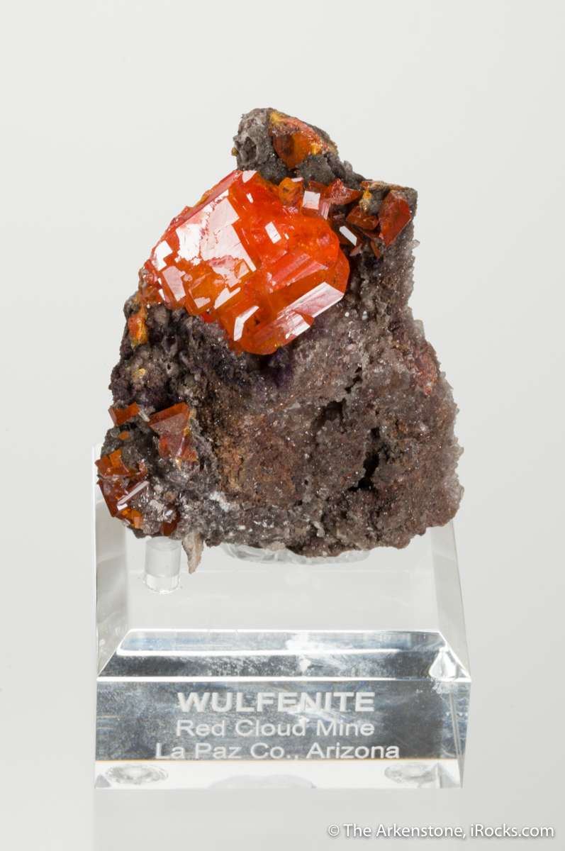 A shockingly fat juicy geometrically fine crystal wulfenite measuring