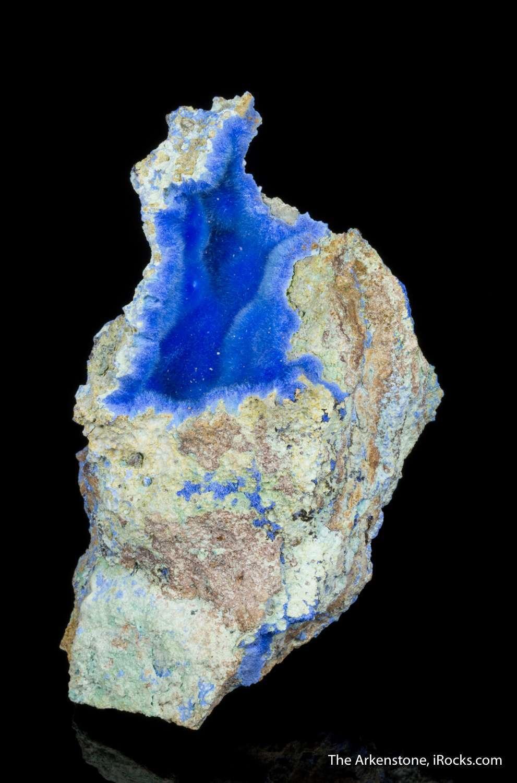 Crystallized cyanotrichite quality incredibly rare worldwide One best