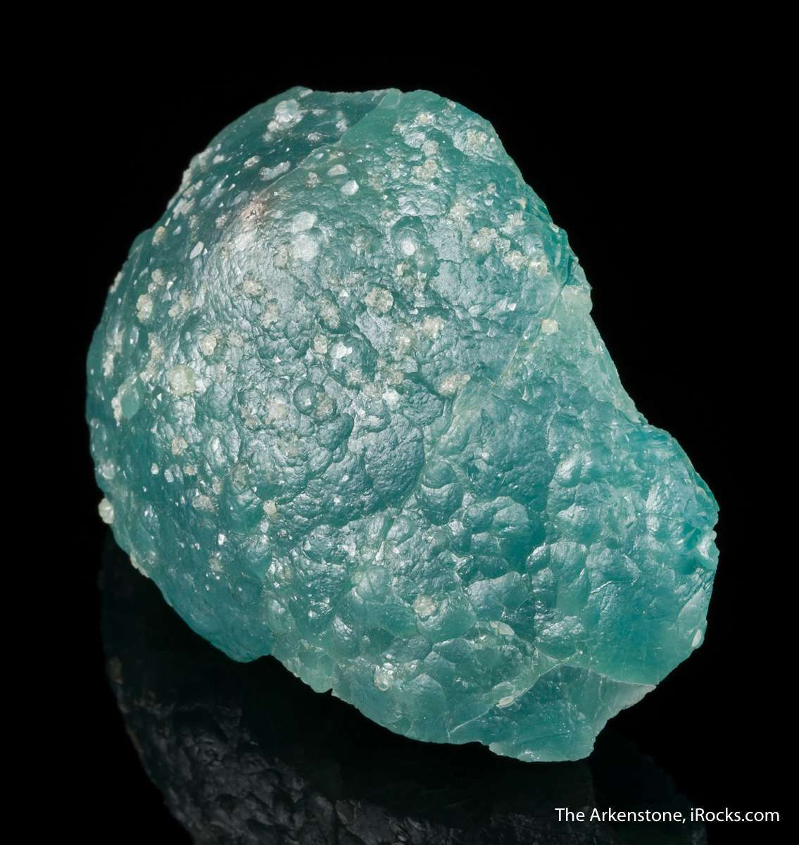 A gorgeous teal colored generation smithsonite overlain later
