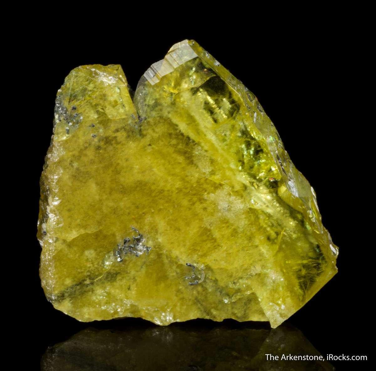 This flattened twinned oldtime titanite crystal lustrous translucent