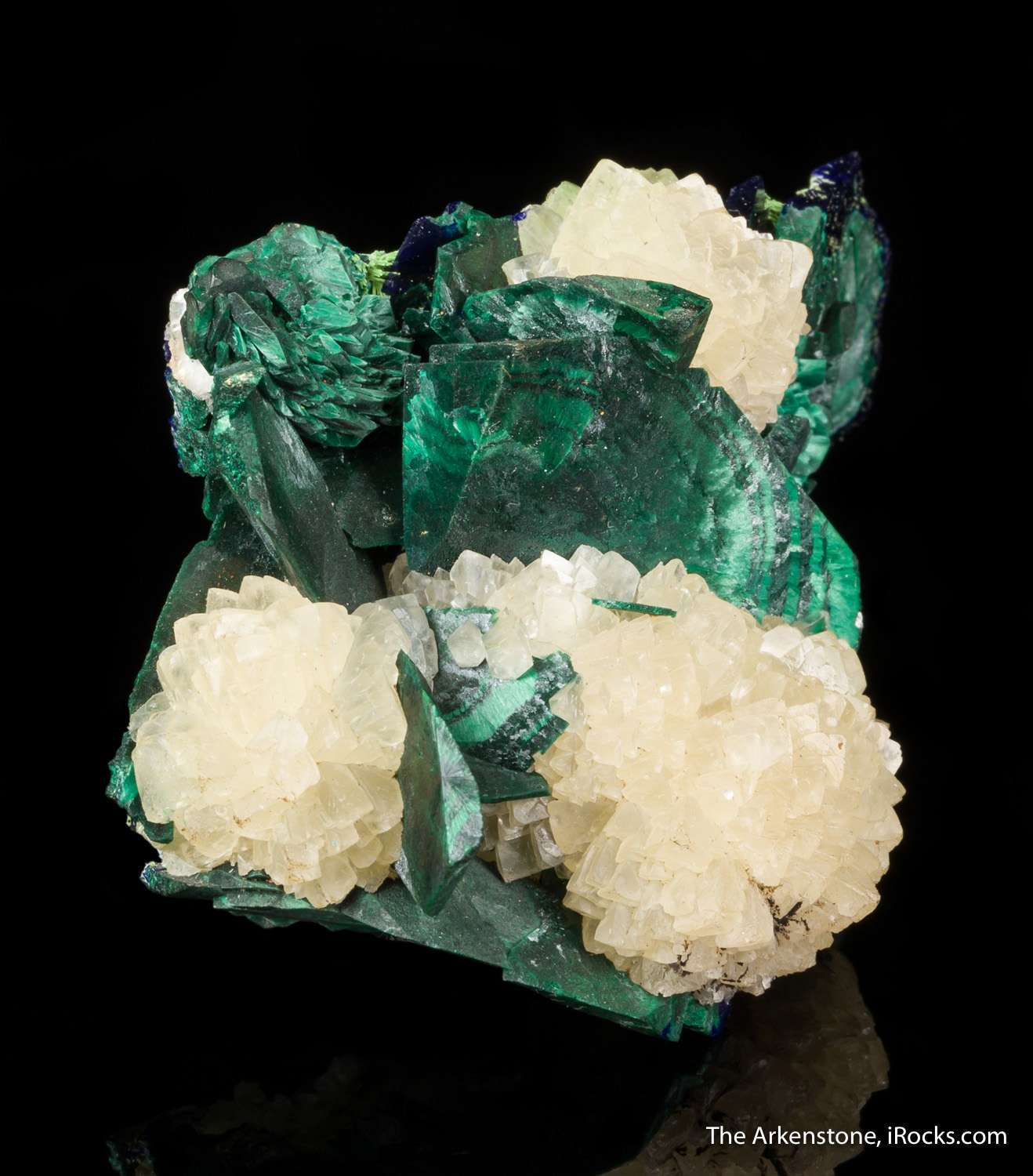 Malachite Pseudomorph after Azurite, with Calcite - D16C ...