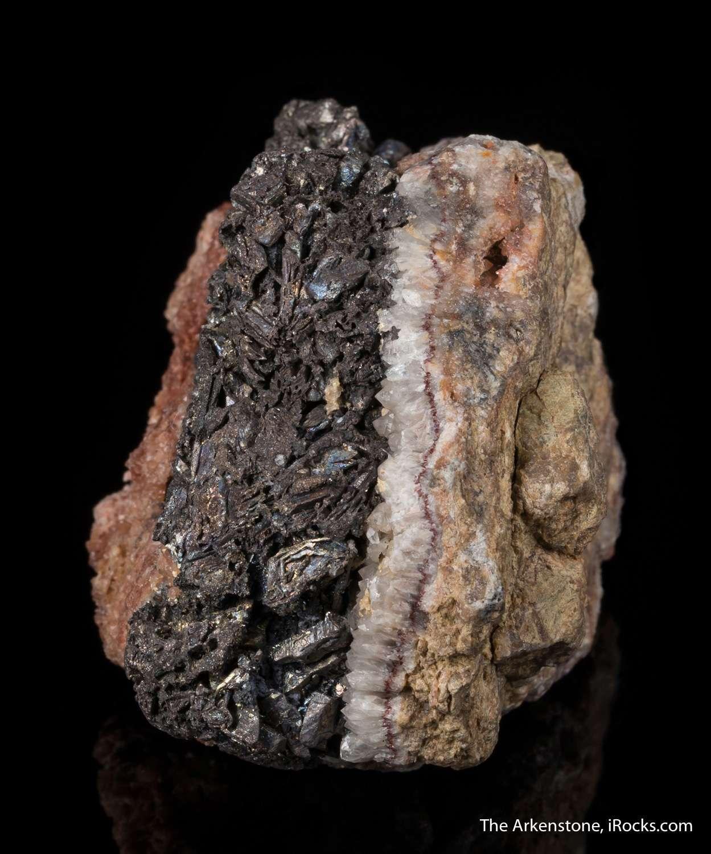 Native bismuth seldom crystallizes richly 2cm thick seam native
