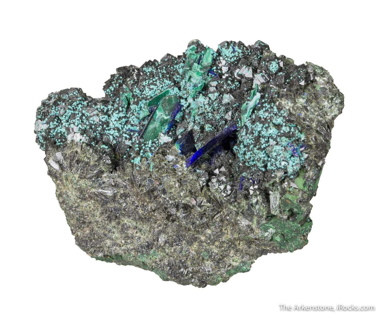 An old specimen superb sharp olivenite crystals early 1900s oxide zone