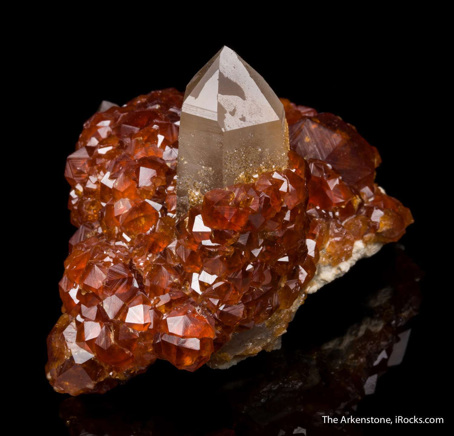 Although garnet locality productive specimens gorgeous balanced look
