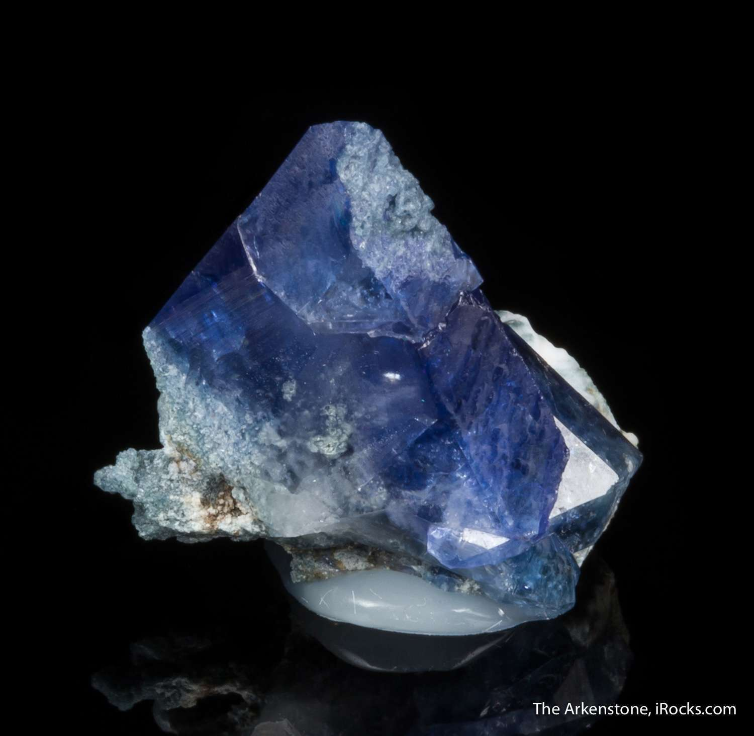 A sharp benitoite crystal just right sparing matrix It colorful gemmy