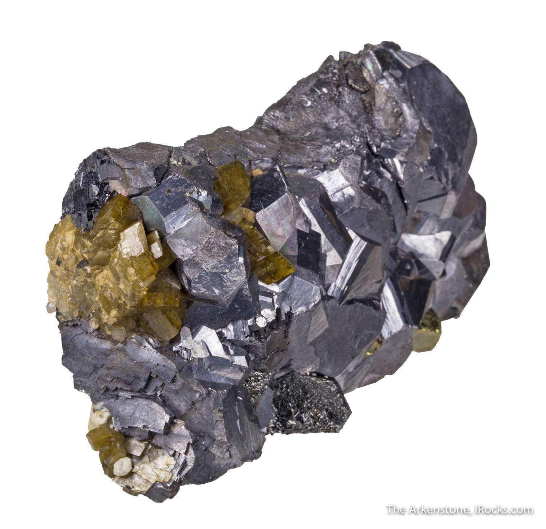 Very lustrous battleship gray crystals galena 2 cm associated rhombic