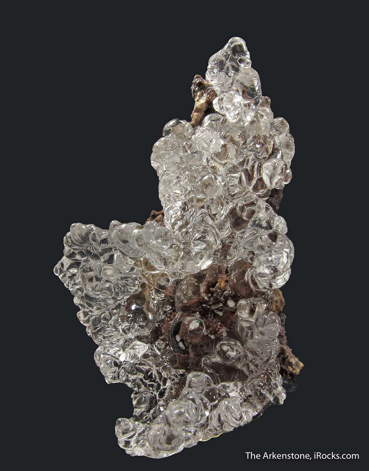 The andesite quarries Tarcal produced Hyalite Opal water clear
