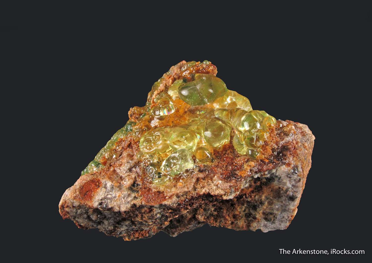 A thick juicy layer Hyalite Opal Zacatecas The Opal gemmy highly
