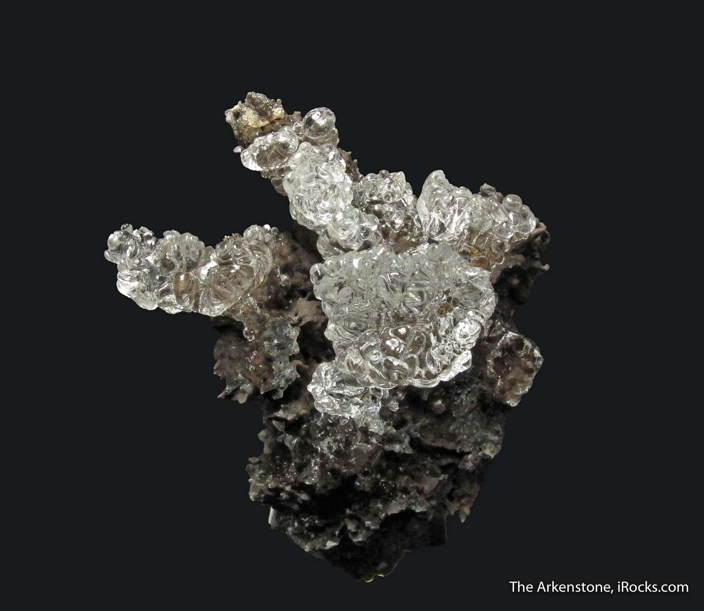 Generous cluster bright glassy Hyalite Opals andesite matrix Tarcal