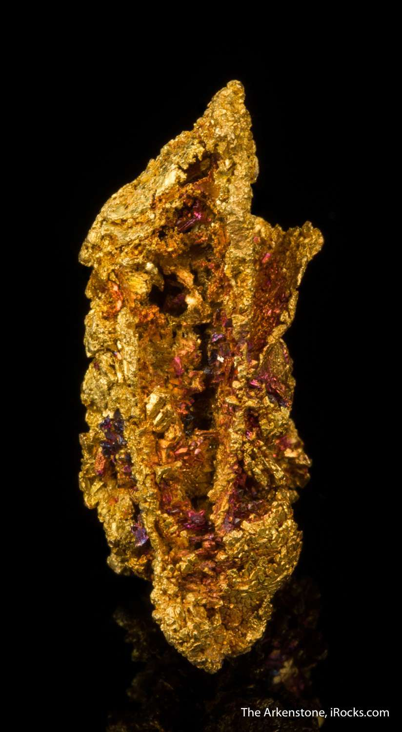 A stunning example naturally iridescent natural golds came early 1900s