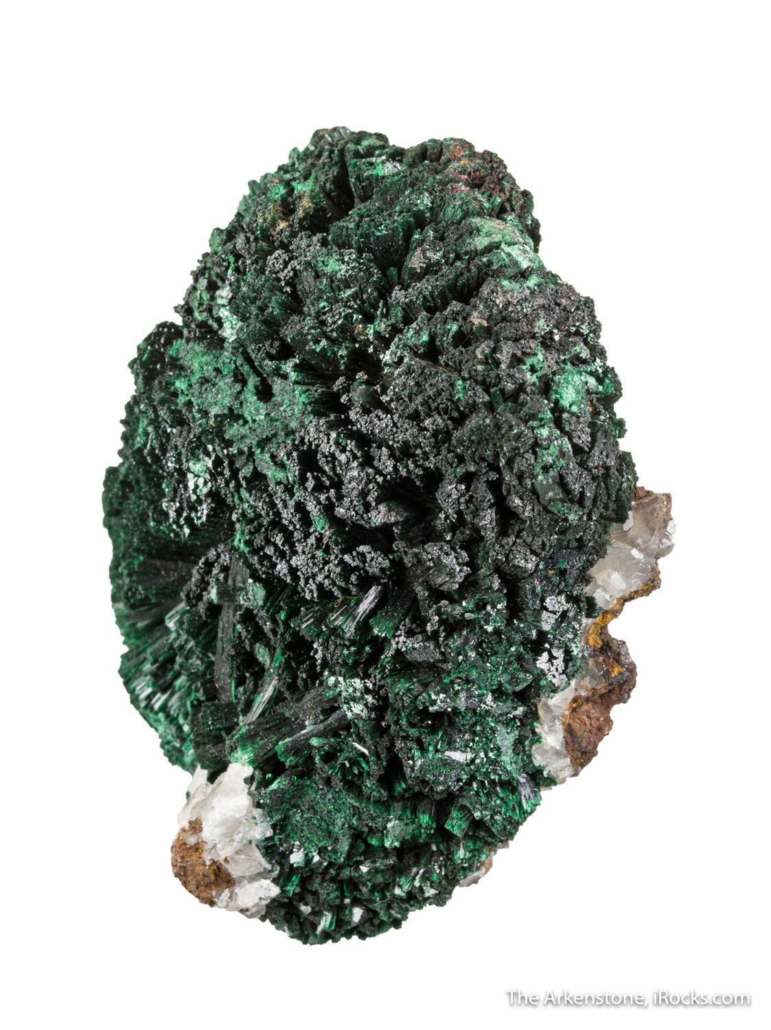 A large rosette gorgeous intense green crystals old locality