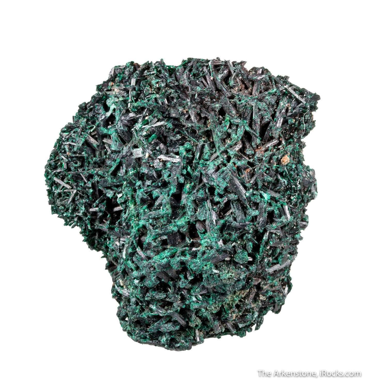 A jackstraw pattern acicular doubly terminated glassy gemmy emerald