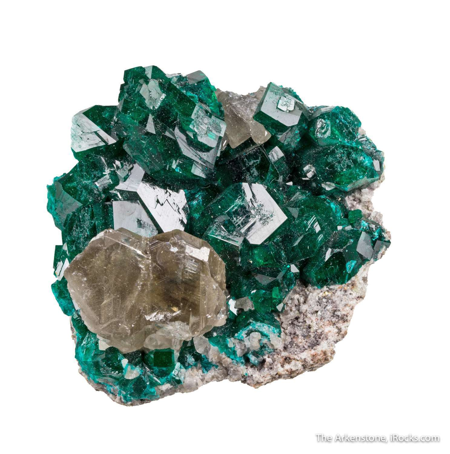 Almost covering trimmed matrix Tsumeb s coveted species dioptase