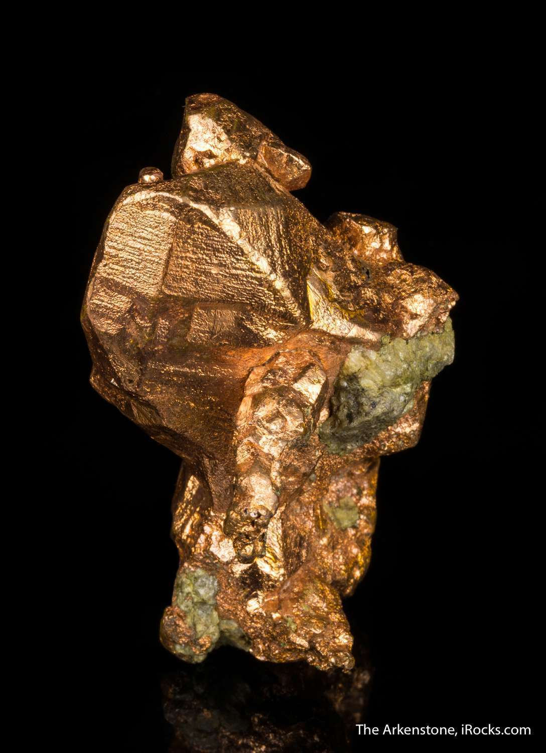 Highlighting bright dramatic copper specimen formed crystal matrix