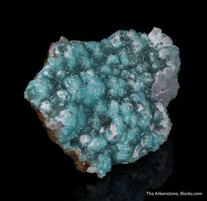 Extremely aesthetic matrix specimen cuprian adamite consists glassy