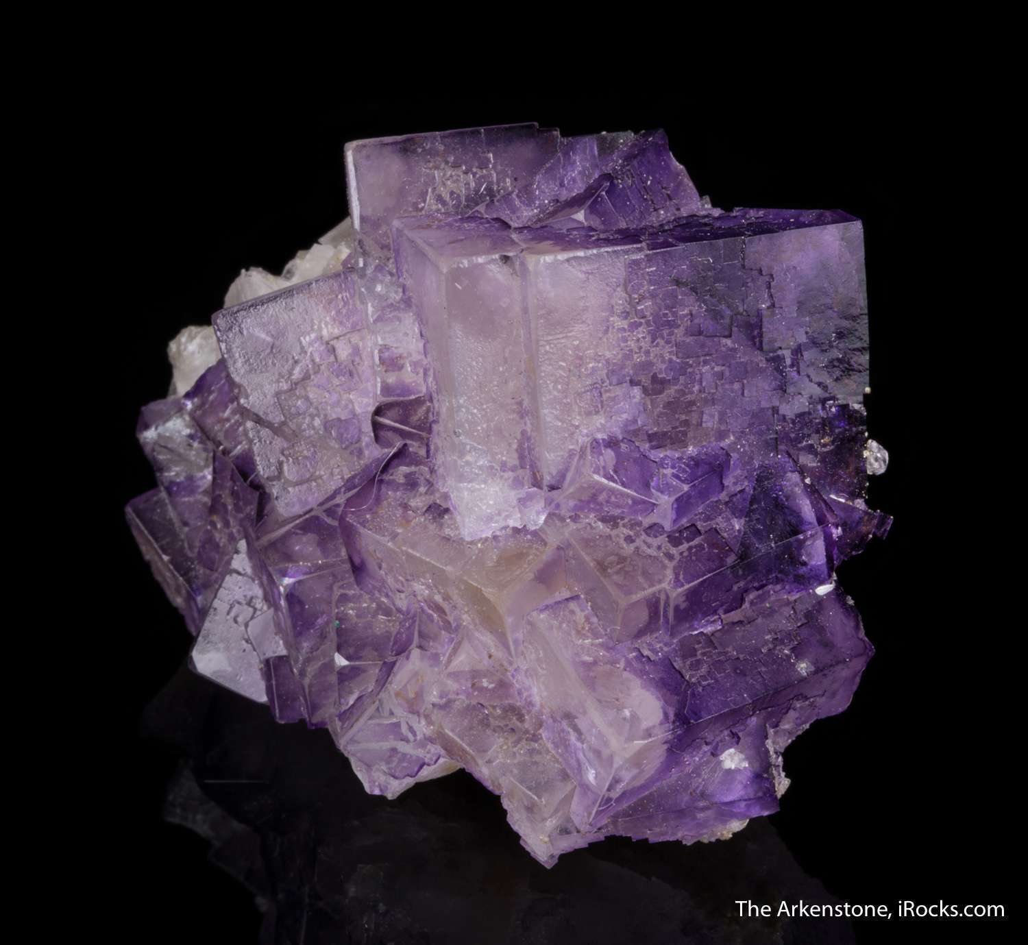 A rare large lustrous fluorite crystal locality displayable specimen