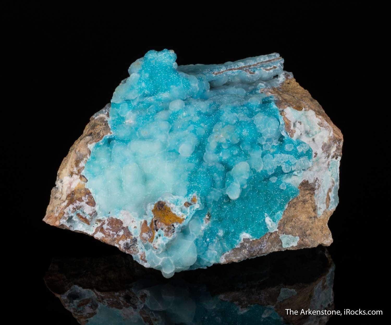 Highly unusual blue adamites Sparkling aquamarine colored spherical