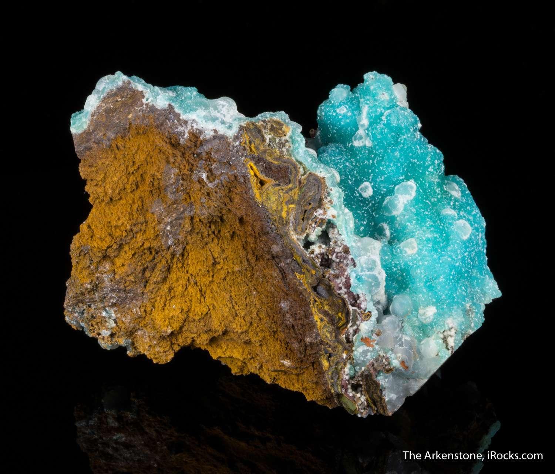 Sparkling translucent spherical aggregates rich blue colored cuprian