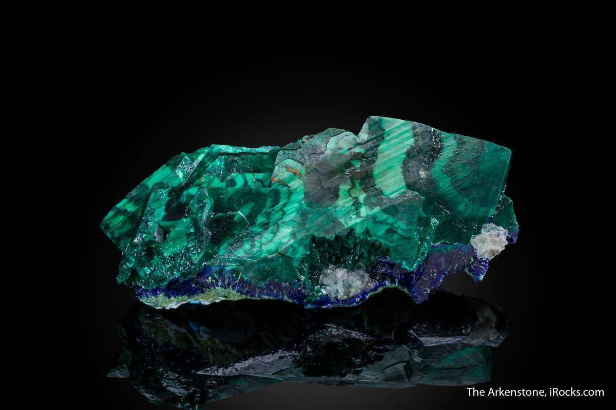 Malachite sharply replaced azurite remarkable large miniature early