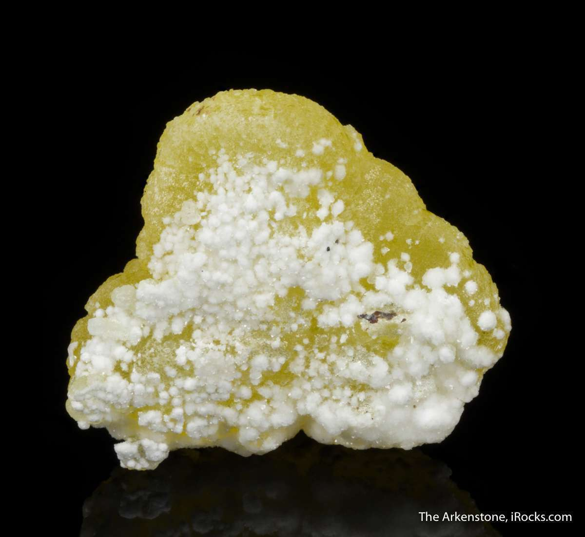A glowing plate crystallized brucite crystals piled atop nice horizon