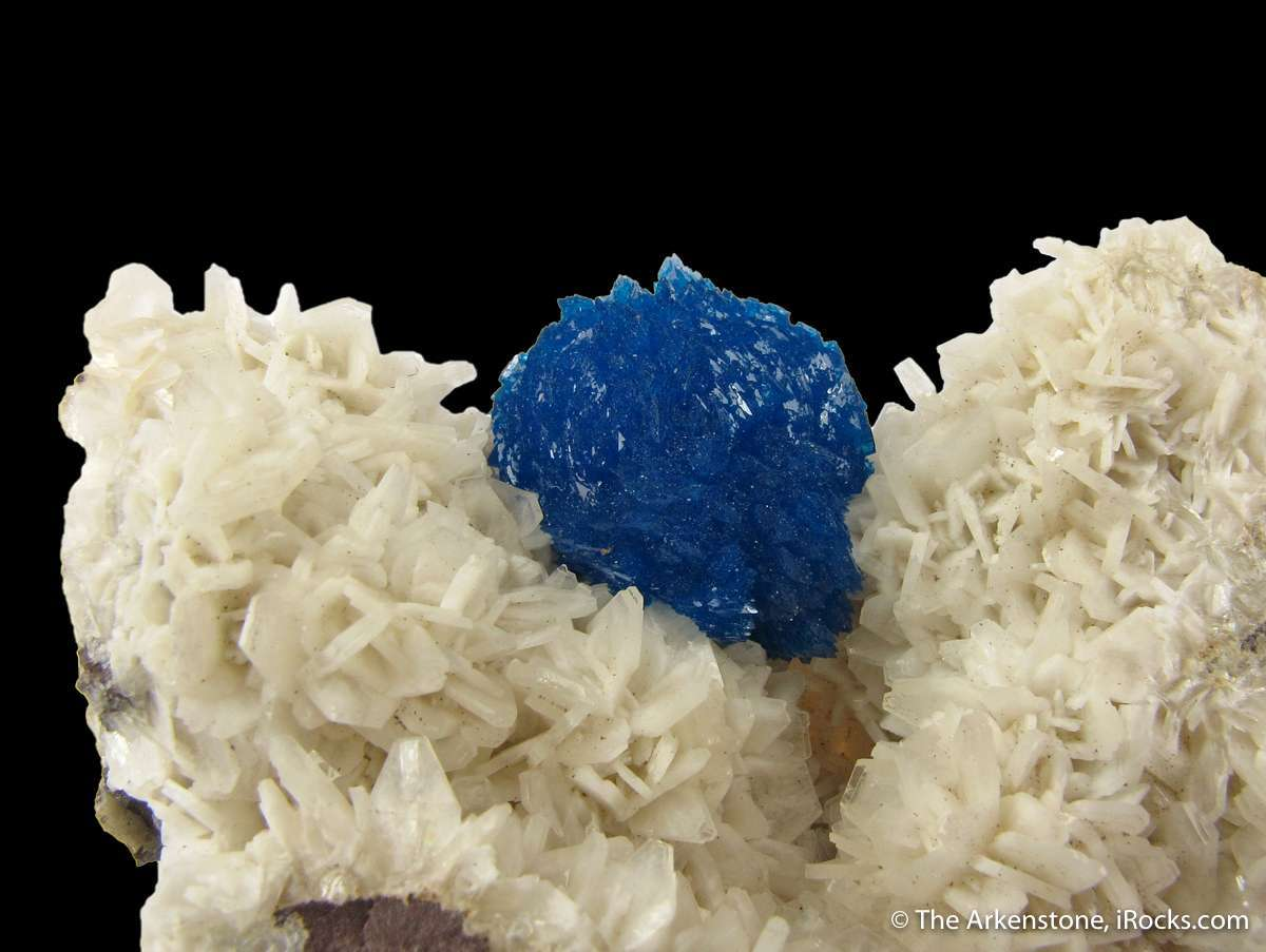 This notable small cabinet specimen great 1988 rediscovery Cavansite
