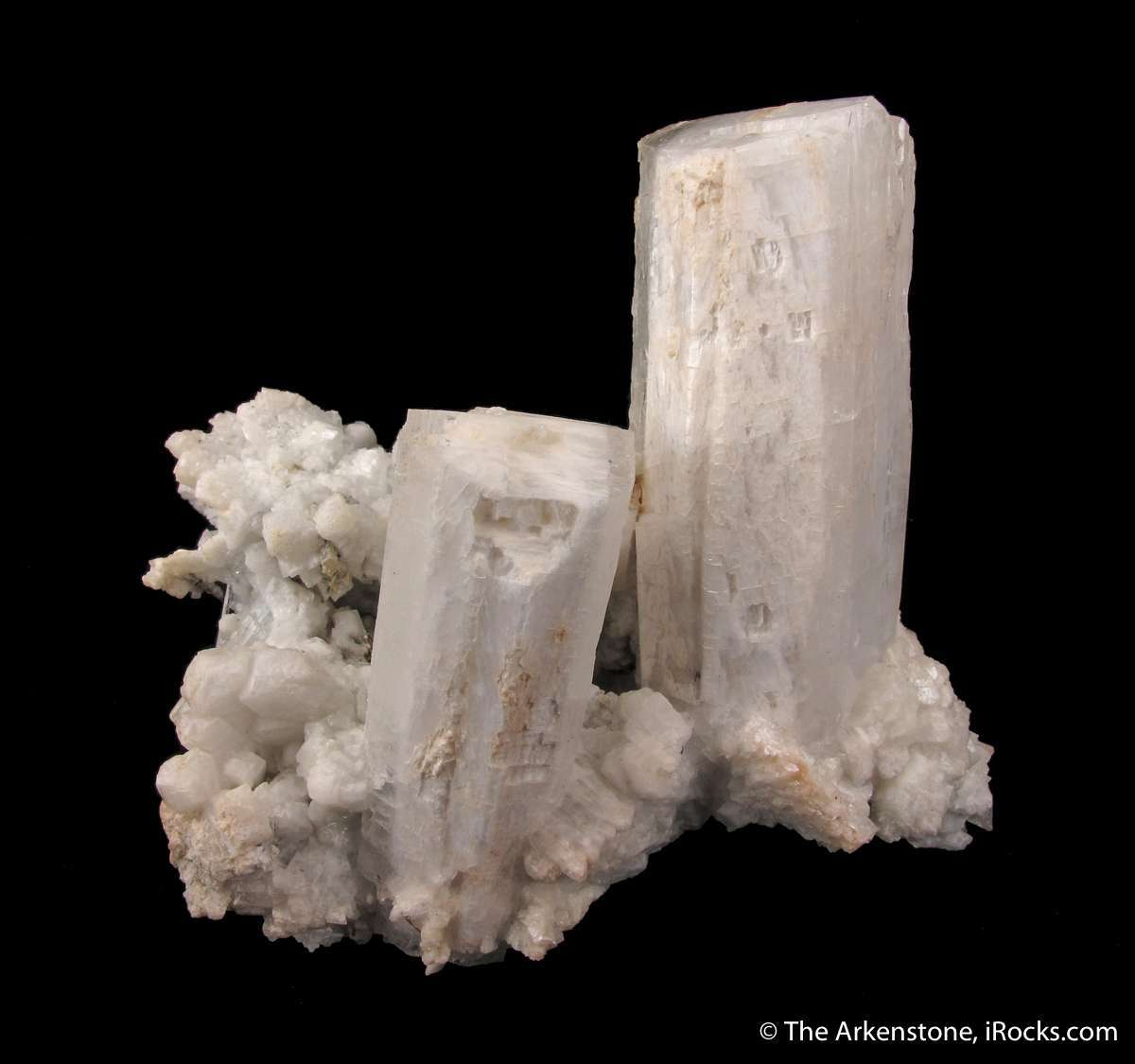 A attractive pair terminated pristine complete Microcline crystals set