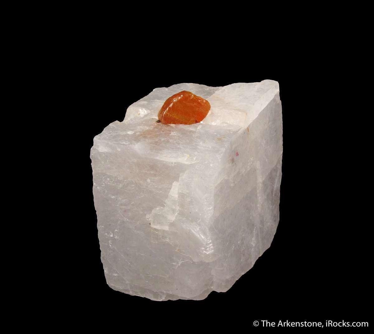 This specimen features GEMMY translucent 9mm Norbergite crystal