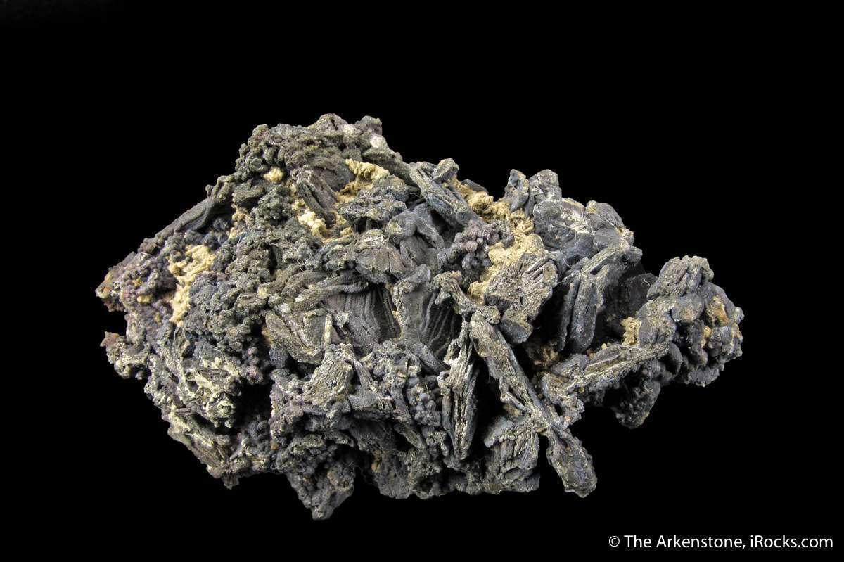 This rich specimen features numerous intergrown platy dendritic