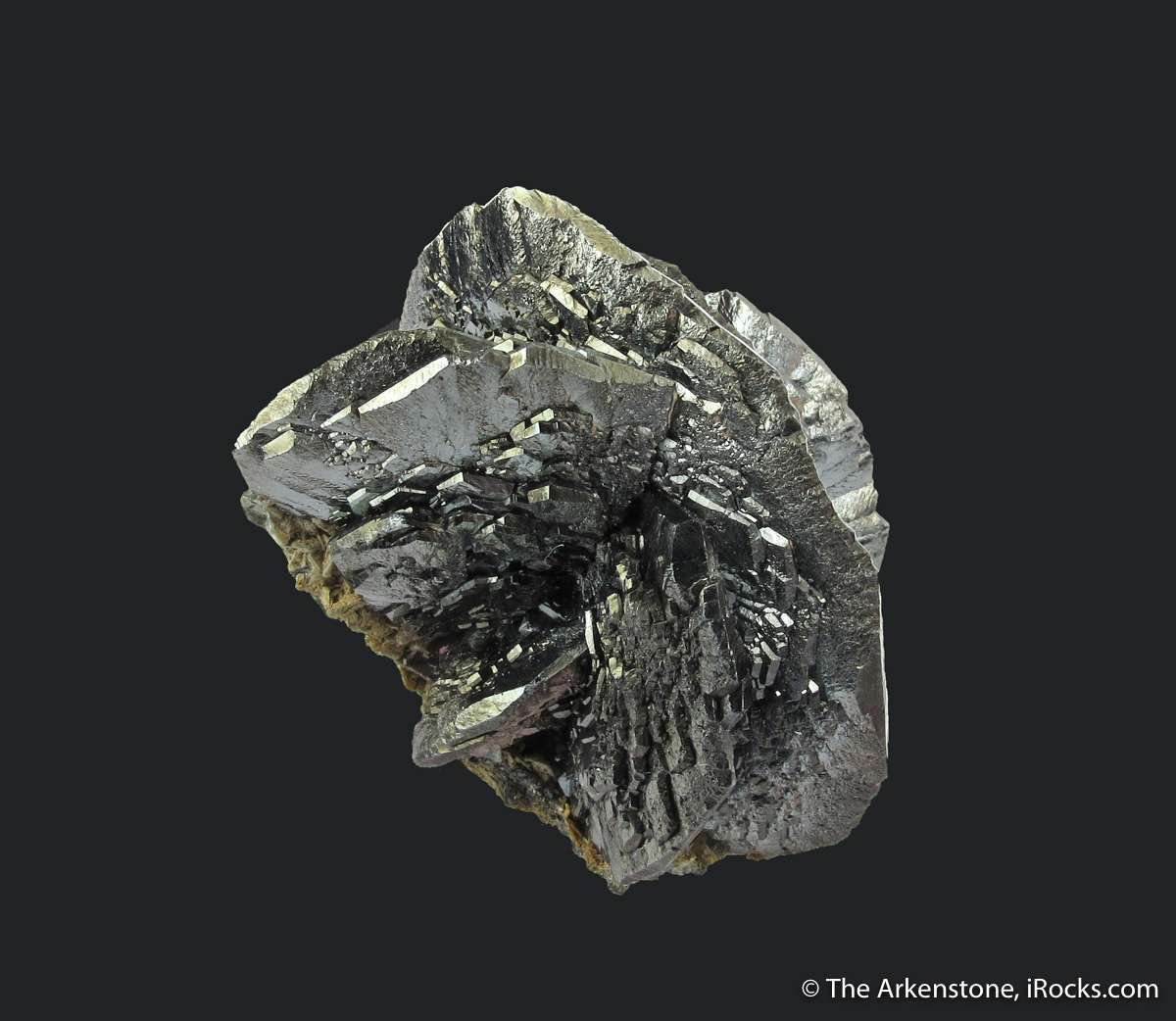 This trimmed balanced miniature shows superb cluster bladed Hematite