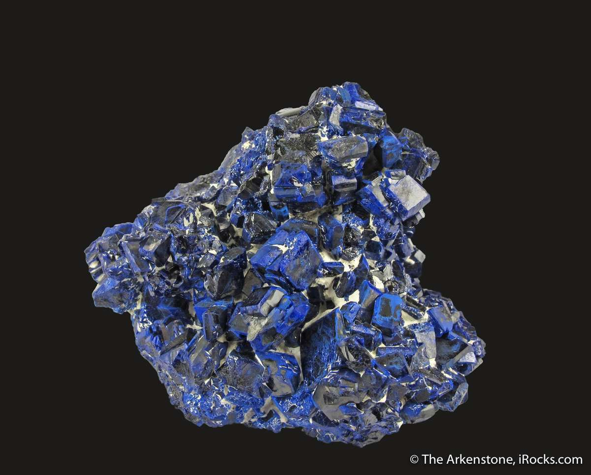 An excellent showy old time Chessy specimen highly lustrous Azurite