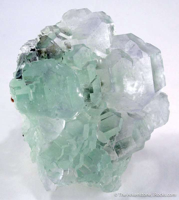 Gemmy pastel green intergrown fluorite crystals 4 0 cm comprise