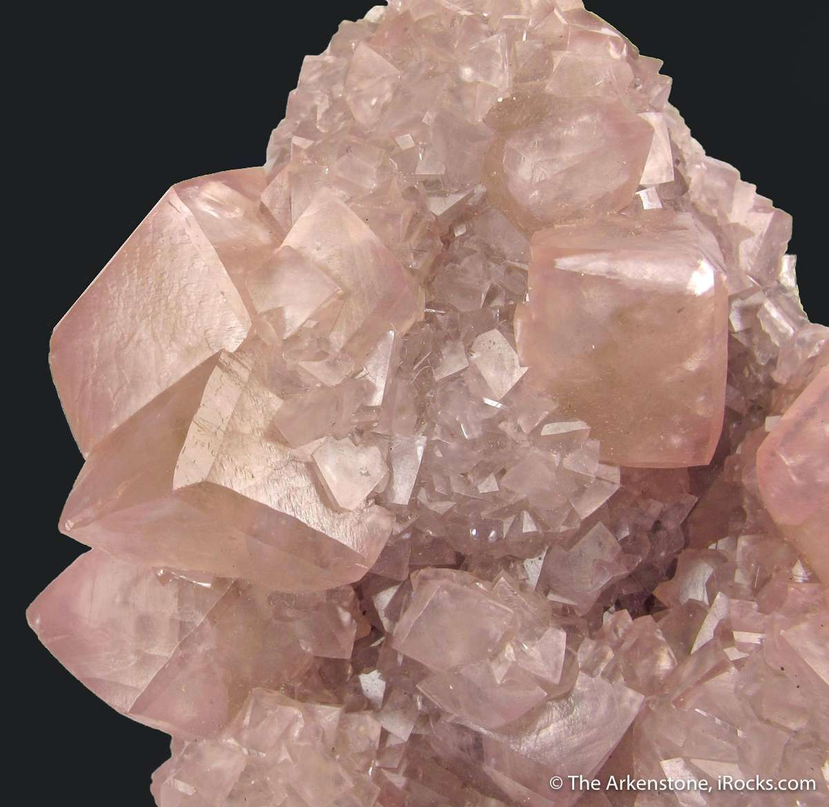 This crystallized smithsonite Tsumeb rare habits large pink meaty