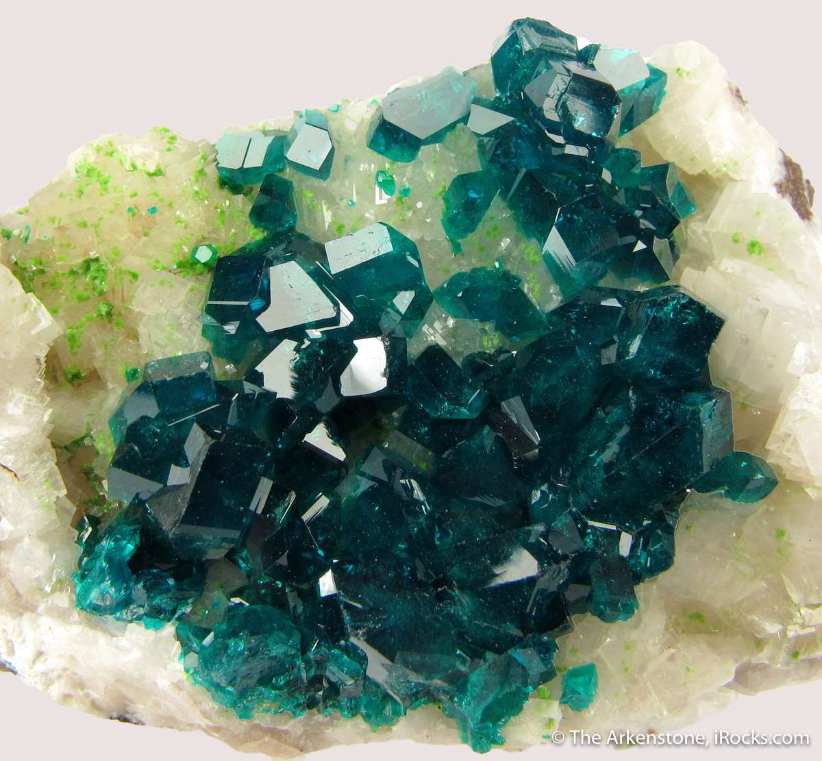 Dioptase Calcite attractive desirable Tsumeb combinations These