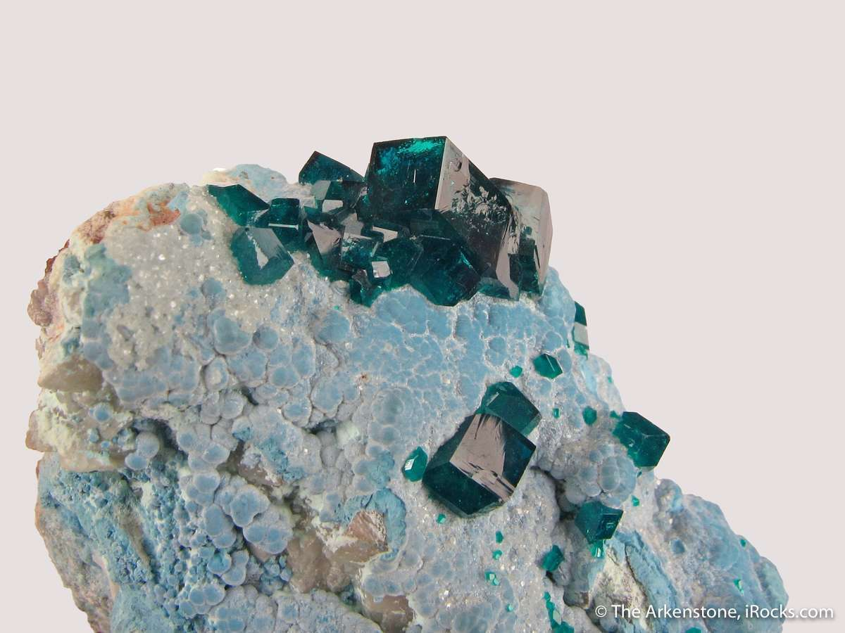 Choice combination piece consisting sharp formed Dioptase crystals bed