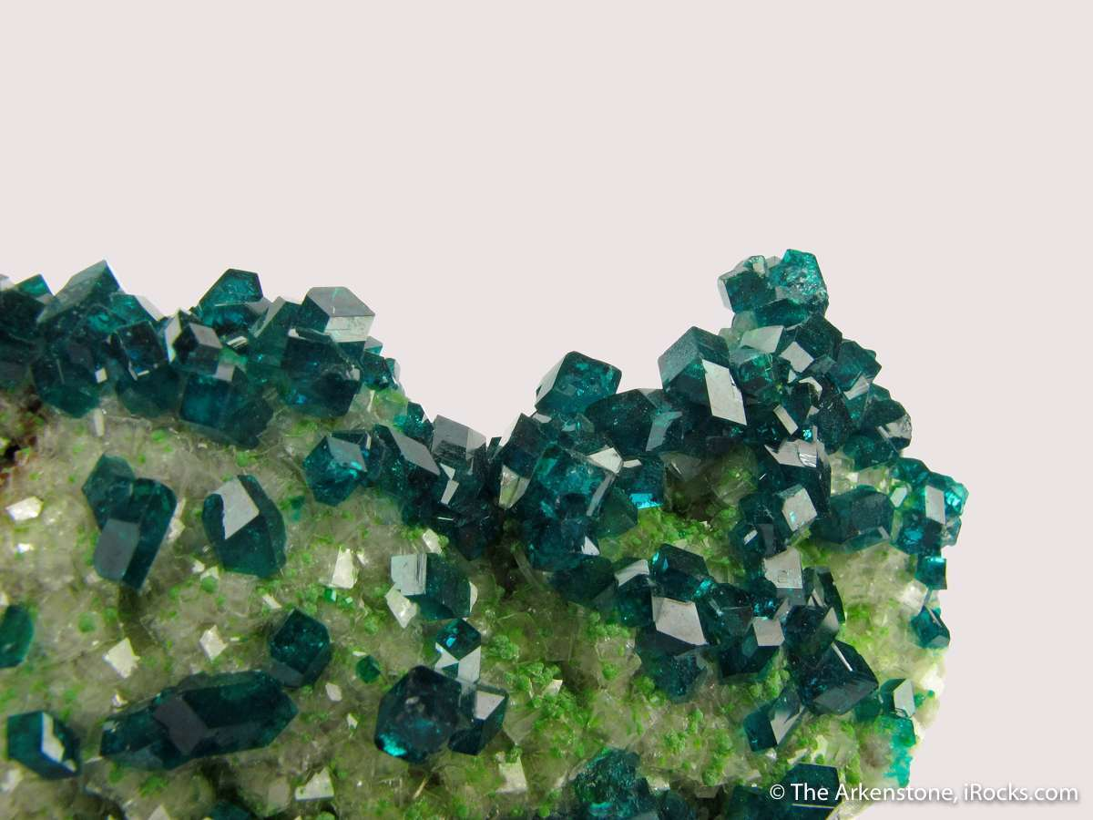 Splendid colorful display appearance choice Dioptase Calcite small cab