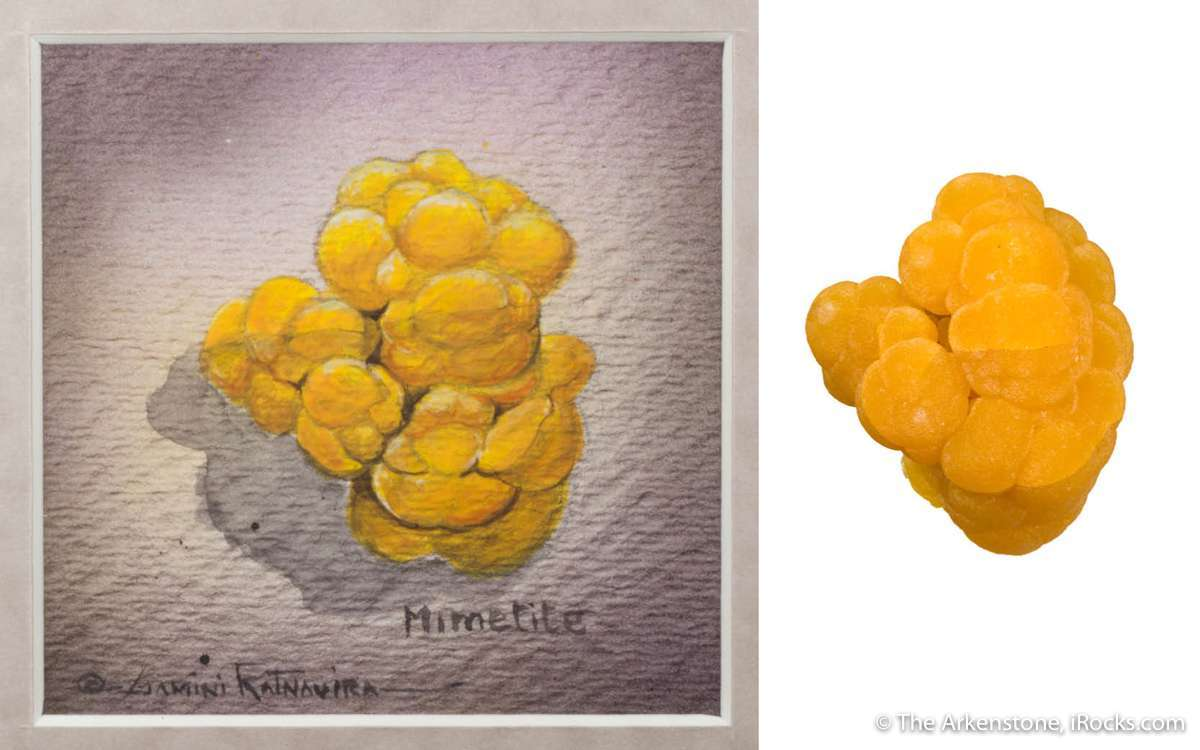 A riveting intense yellow orange miniature important time 1969 This