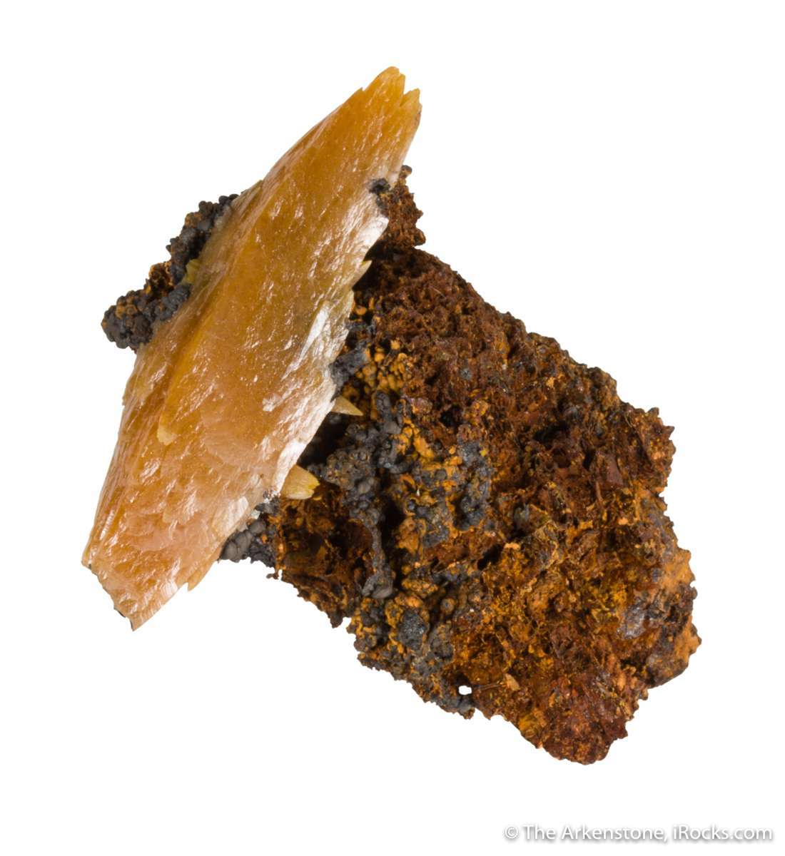Bipyramidal wulfenite extremely rare nature This surprising specimen