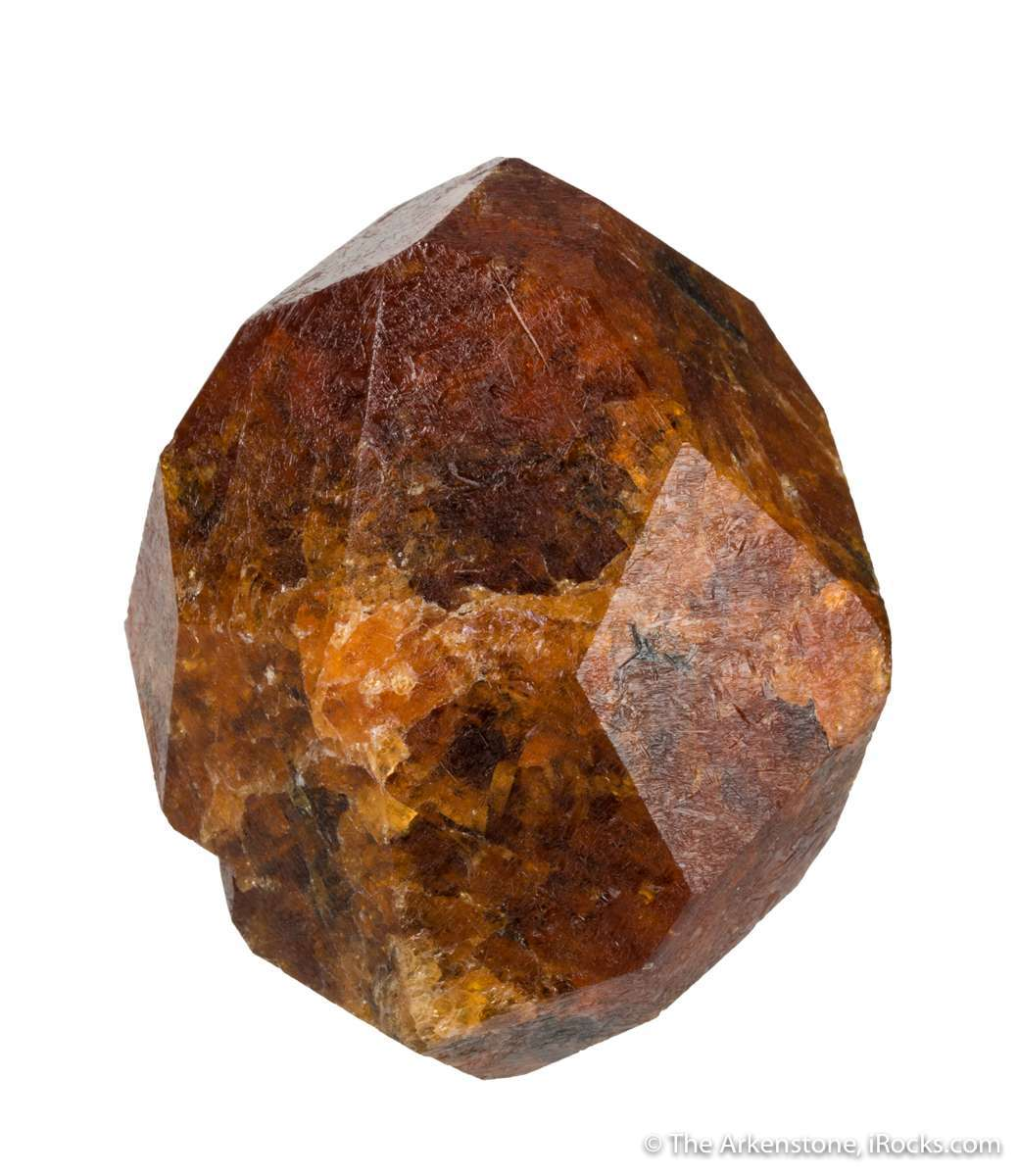 At 693 grams massive textbook spessartine garnet comes approximately 2