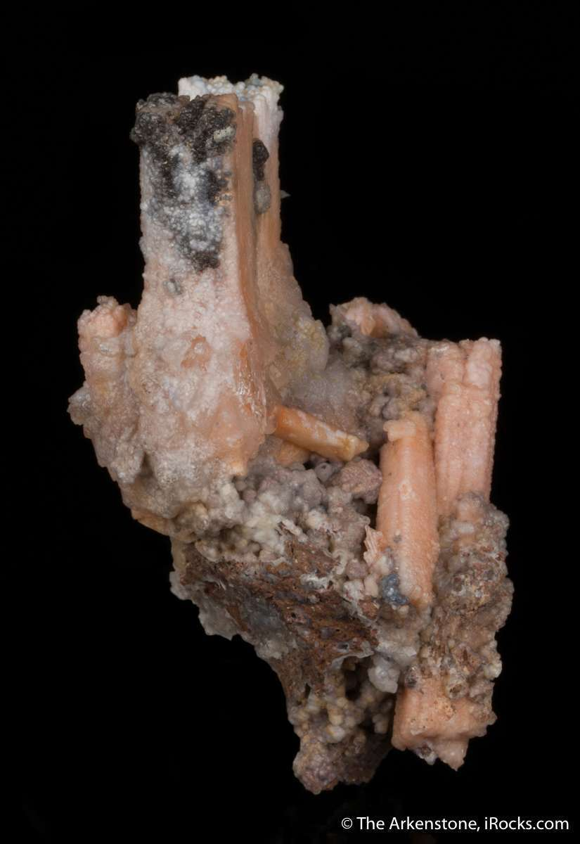 A rare example highly unusual replacement anhydrite peach colored
