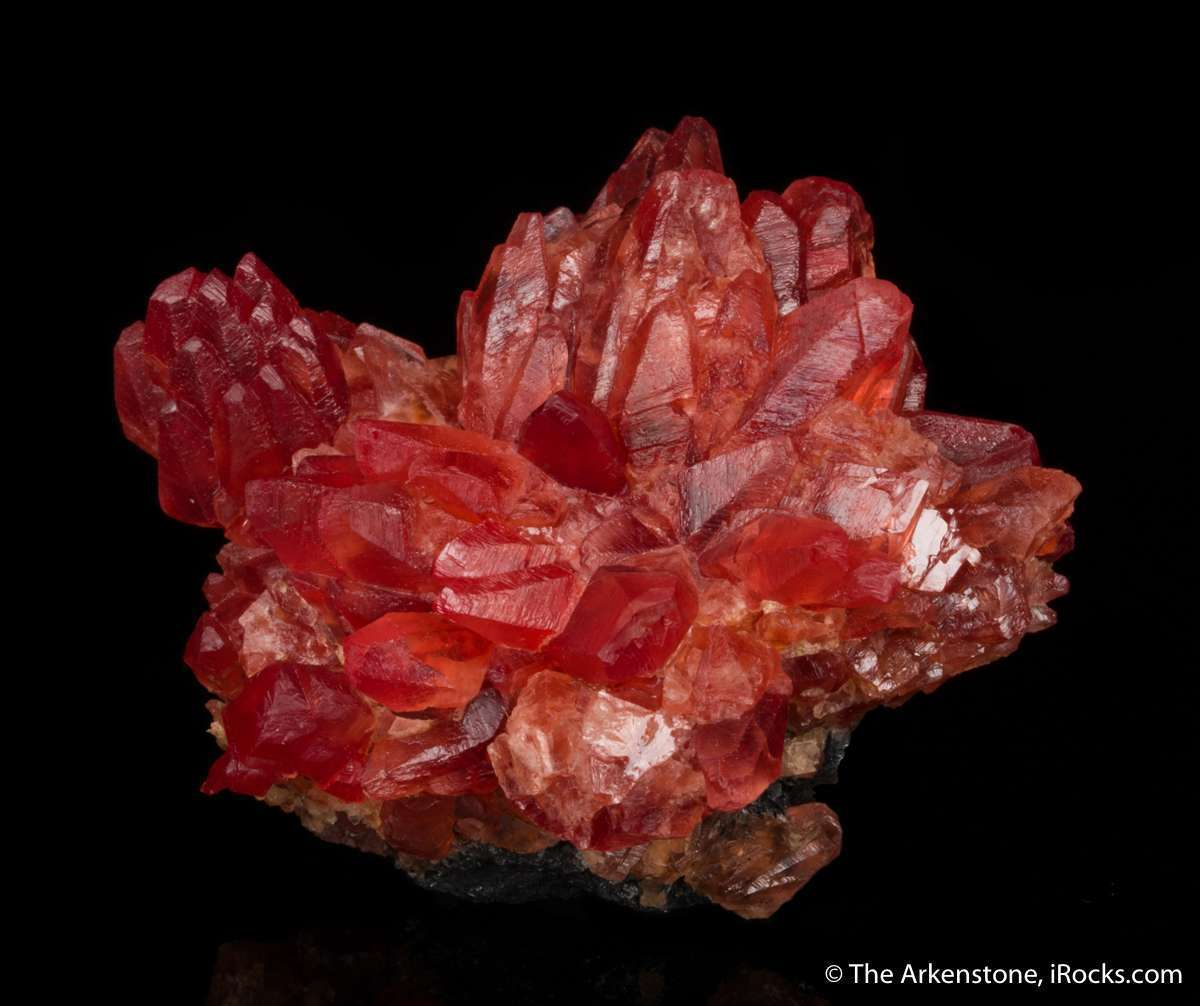 Here flowerlike cluster rhodochrosite classic cherry color pleasing