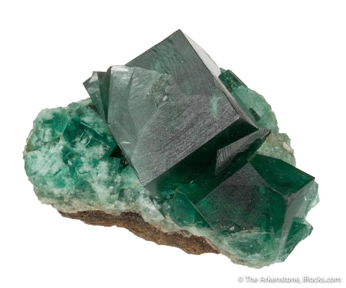 Rogerley Mine fluorites rarely present large isolated crystals This